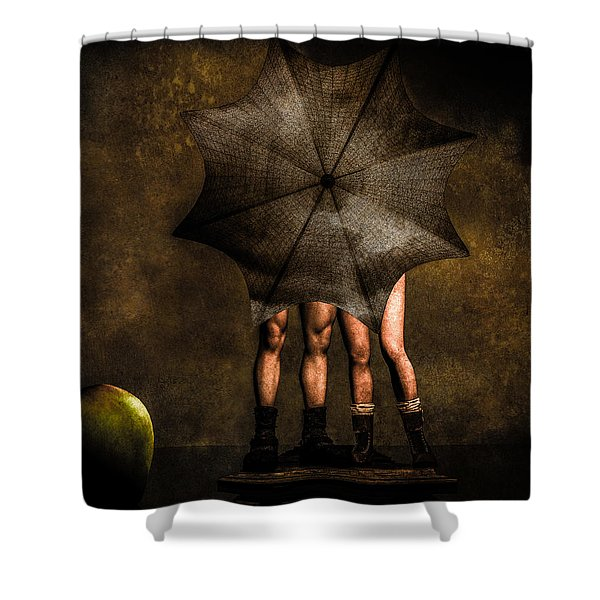 Adam And Eve Shower Curtain by Bob Orsillo