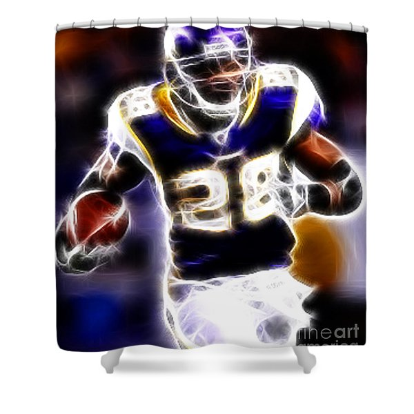Adrian Peterson 01 - Football - fantasy Shower Curtain by Paul Ward