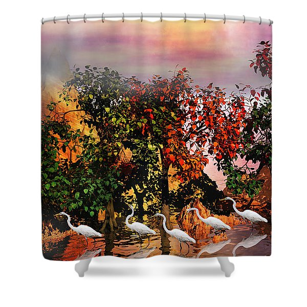 Adventure Pros Shower Curtain by Betsy C  Knapp