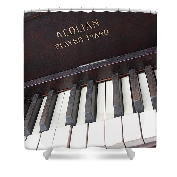 Aeolian Player Piano-3484 Shower Curtain by Gary Gingrich Galleries