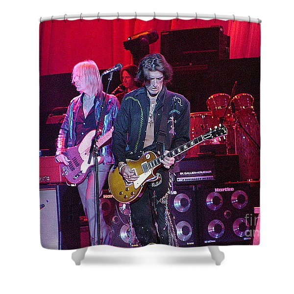 Aerosmith-joe Perry-00019 Shower Curtain by Gary Gingrich Galleries