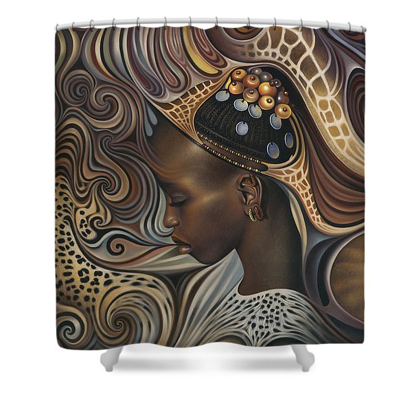 African Spirits II Shower Curtain by Ricardo Chavez-Mendez