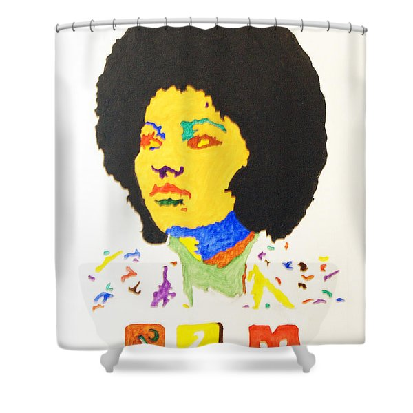 Afro Pam Grier Shower Curtain by Stormm Bradshaw
