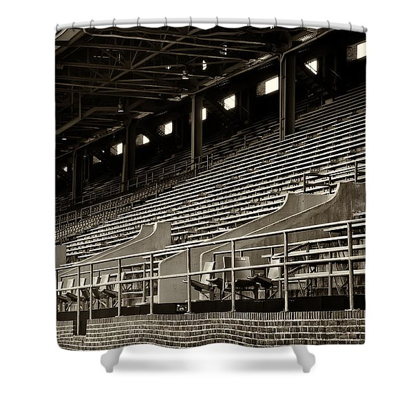 After The Game - Franklin Field Philadelphia Shower Curtain by Bill Cannon