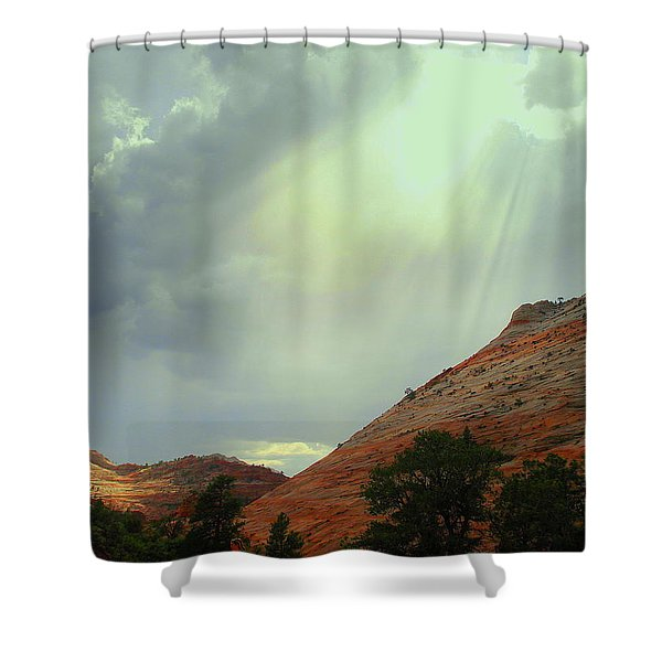 After the Storm Shower Curtain by J Allen