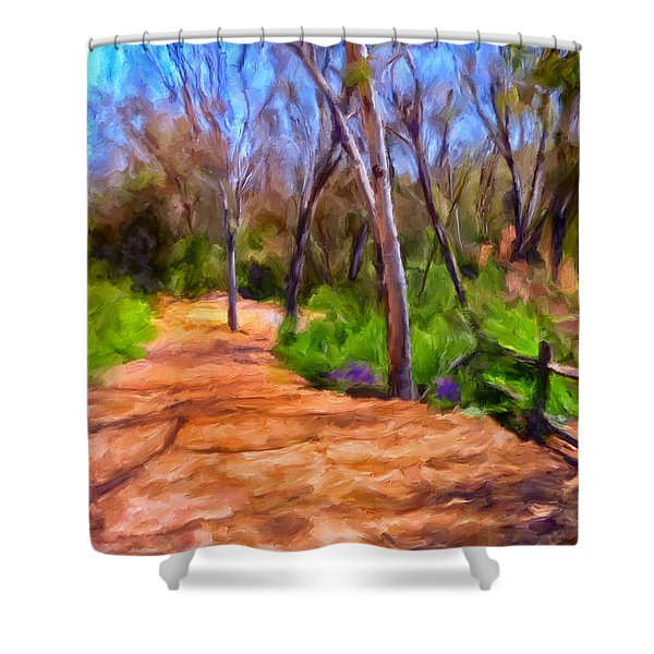 Afternoon Walk Shower Curtain by Michael Pickett