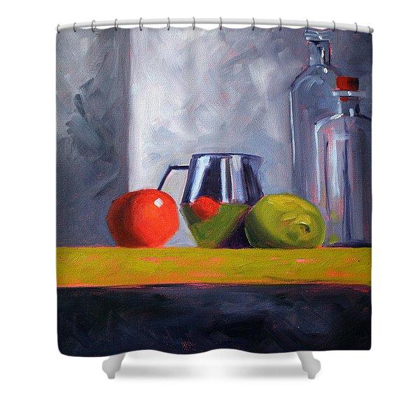 Against Giants Shower Curtain by Nancy Merkle