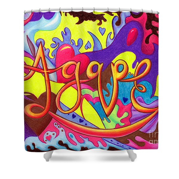 Agape Shower Curtain by Nancy Cupp
