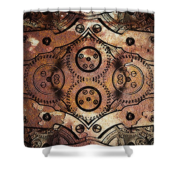 Age Of The Machine 20130605rust vertical Shower Curtain by Wingsdomain Art and Photography