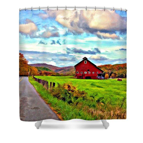 Ah...West Virginia oil Shower Curtain by Steve Harrington