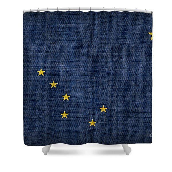 Alaska state flag Shower Curtain by Pixel Chimp