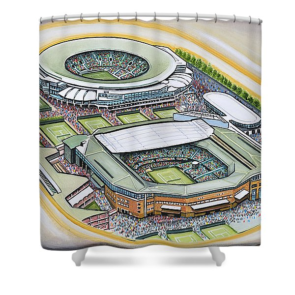 All England Lawn Tennis Club Shower Curtain by D J Rogers
