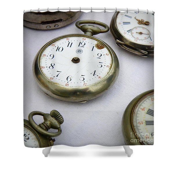 All Out Of Time Shower Curtain by Lainie Wrightson