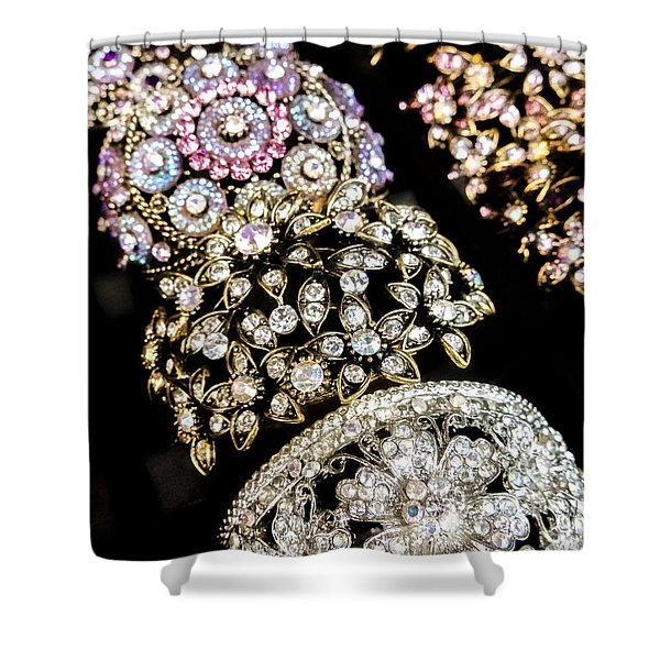 All That Glitters Shower Curtain by Caitlyn  Grasso