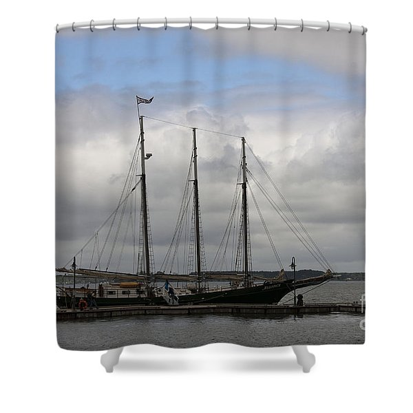 Alliance Schooner Shower Curtain by Teresa Mucha