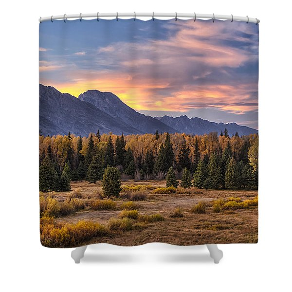 Alluring Conclusion Shower Curtain by Mark Kiver
