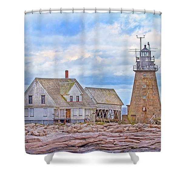 Alone on the Rocks Shower Curtain by Betsy C  Knapp