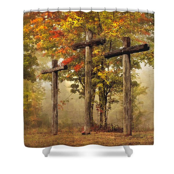 Amazing Grace Shower Curtain by Debra and Dave Vanderlaan