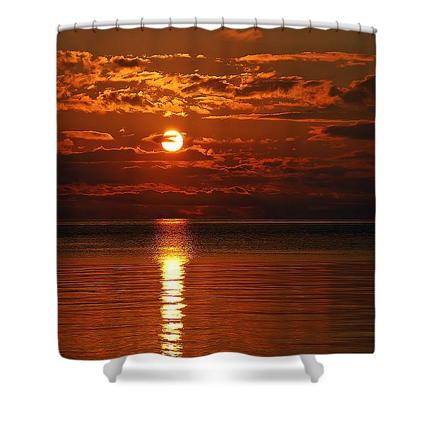 Amazing Sunset Shower Curtain by Aimee L Maher Photography and Art