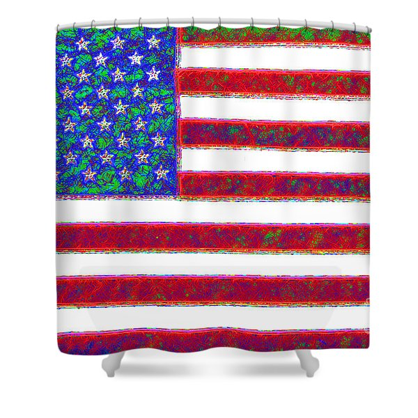America - 20130122 Shower Curtain by Wingsdomain Art and Photography