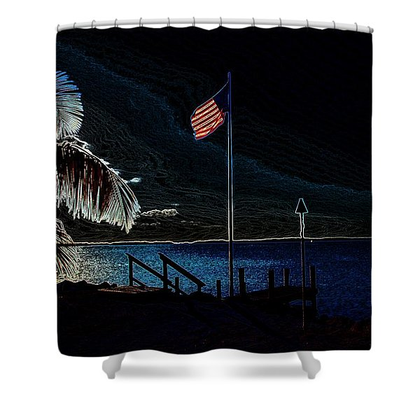 America all the Way 8 Shower Curtain by Rene Triay Photography