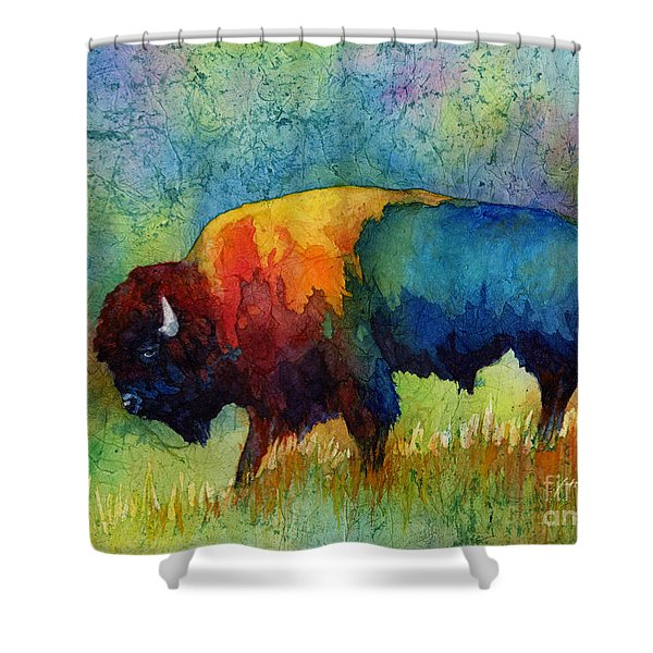 American Buffalo IIi Shower Curtain by Hailey E Herrera