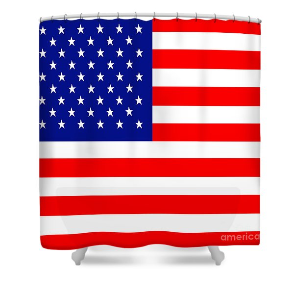 American Flag . Square Shower Curtain by Wingsdomain Art and Photography
