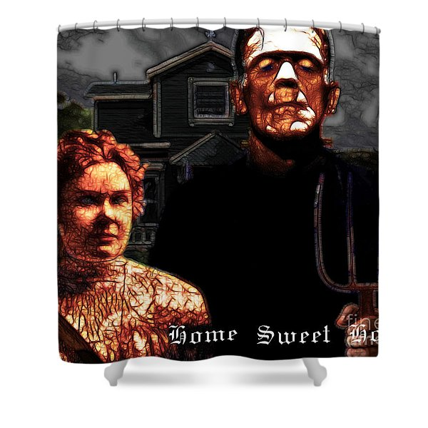 American Gothic Resurrection Home Sweet Home 20130715 Shower Curtain by Wingsdomain Art and Photography