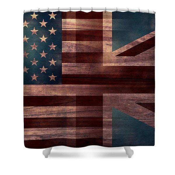 American Jack III Shower Curtain by April Moen