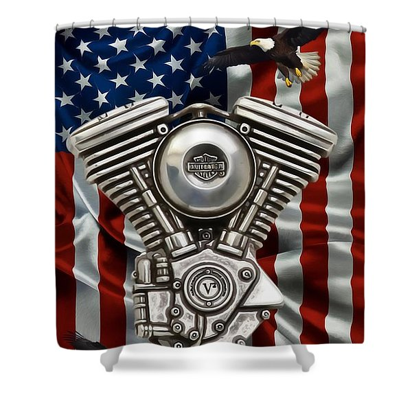 American Made 2 Shower Curtain by Todd and candice Dailey