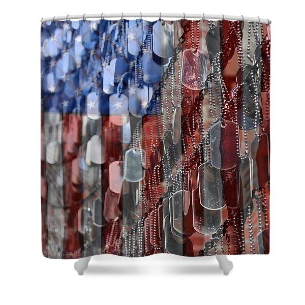 American Sacrifice Shower Curtain by DJ Florek