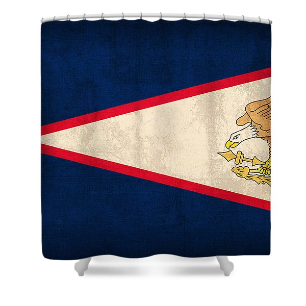 American Samoa Flag Vintage Distressed Finish Shower Curtain by Design Turnpike