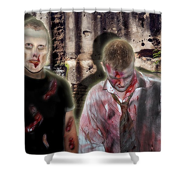 American Zombies Shower Curtain by Gary Keesler