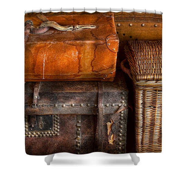Americana - Emotional baggage  Shower Curtain by Mike Savad