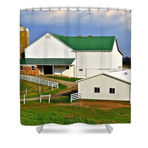 Amish Living Shower Curtain by Frozen in Time Fine Art Photography