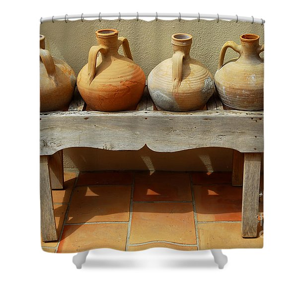 Amphoras  Shower Curtain by Elena Elisseeva