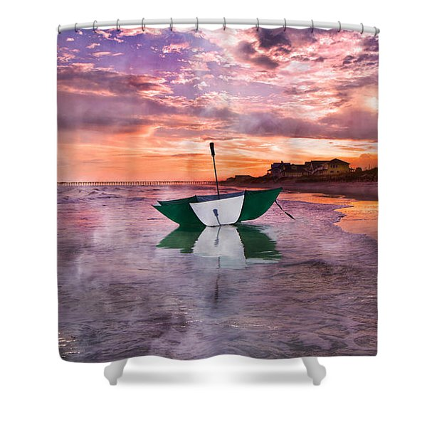 An Enchanting Evening Shower Curtain by Betsy C  Knapp