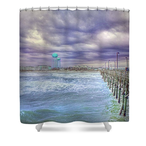An Ocean of Clouds Shower Curtain by Betsy C  Knapp