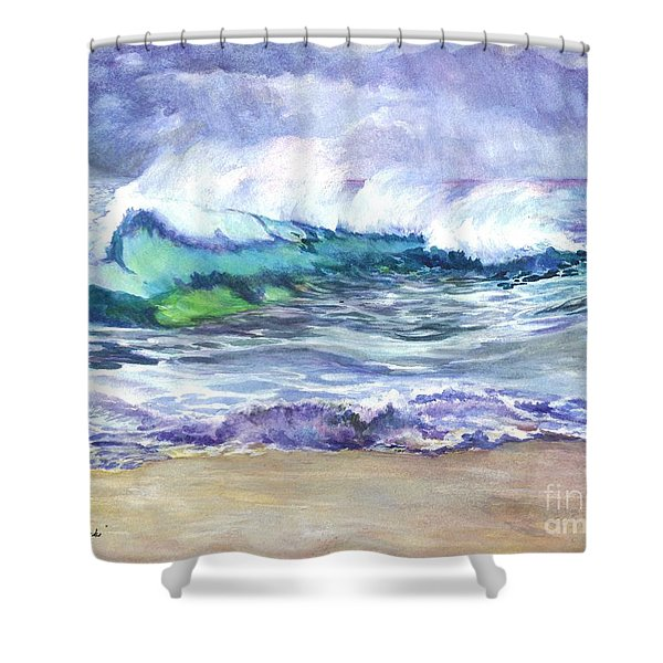 An Ode To The Sea Shower Curtain by Carol Wisniewski
