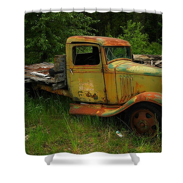 AN OLD FLATBED Shower Curtain by Jeff  Swan