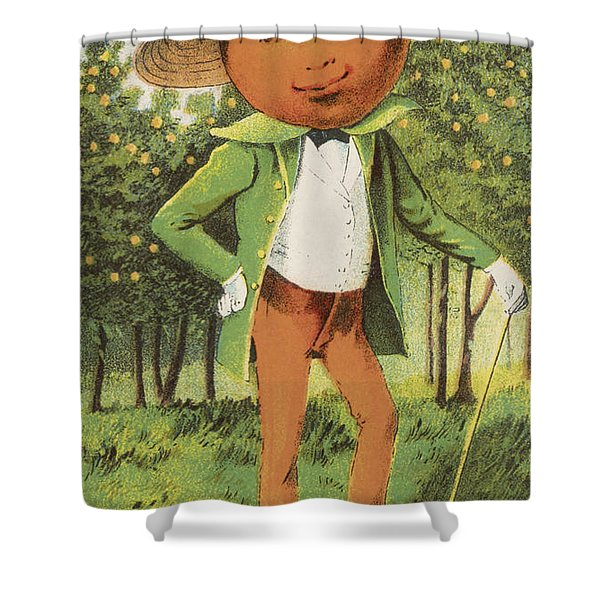 An Orange Man Shower Curtain by Aged Pixel