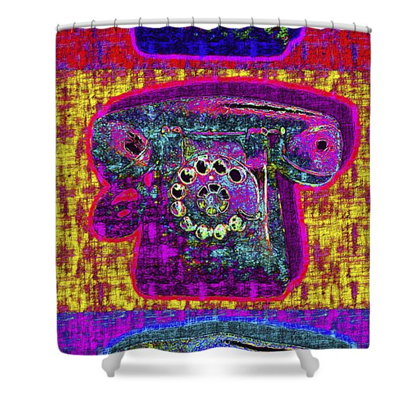 Analog A-phone Three - 2013-0121 Shower Curtain by Wingsdomain Art and Photography
