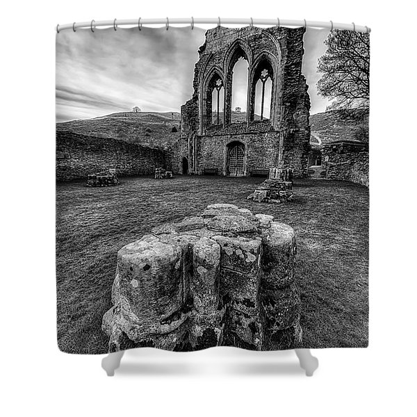 Ancient Abbey Shower Curtain by Adrian Evans
