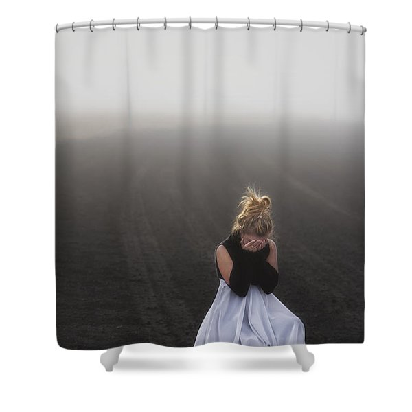 And Tears Shall Drown The Wind Shower Curtain by Evelina Kremsdorf
