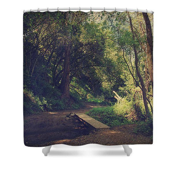 And Yet So Far Shower Curtain by Laurie Search