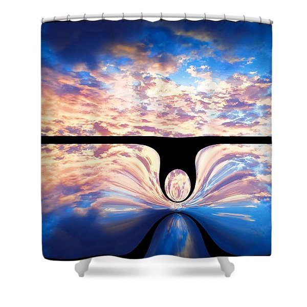 Angel In The Sky Shower Curtain by Alec Drake