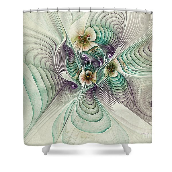 Angelic Entities Shower Curtain by Deborah Benoit