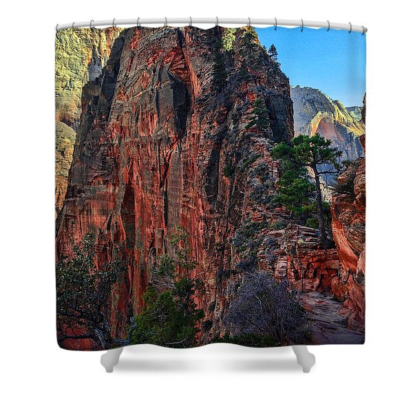 Angel's Landing Shower Curtain by Chad Dutson