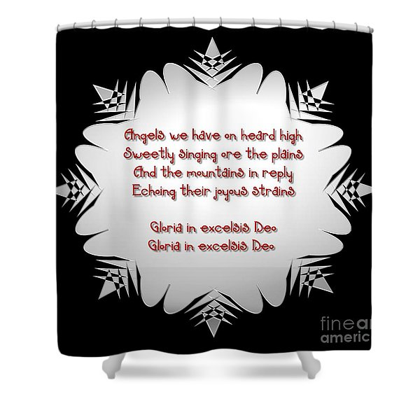 Angels we have heard on high Snowflake Shower Curtain by Rose Santuci-Sofranko