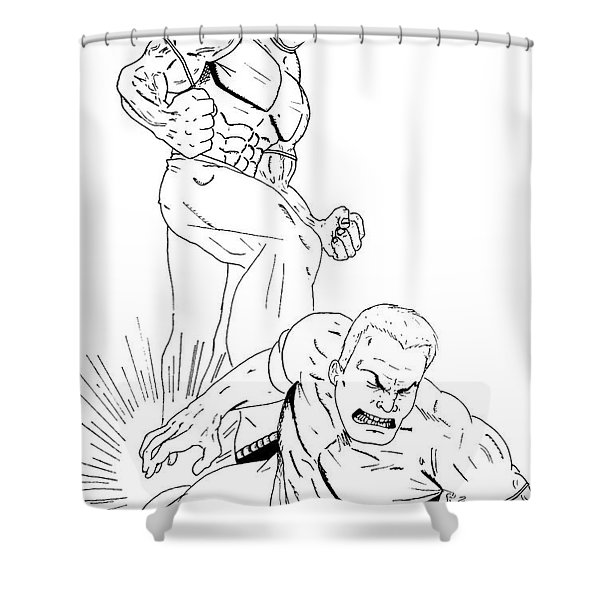 Anger Has A Foothold On Me Shower Curtain by Justin Moore